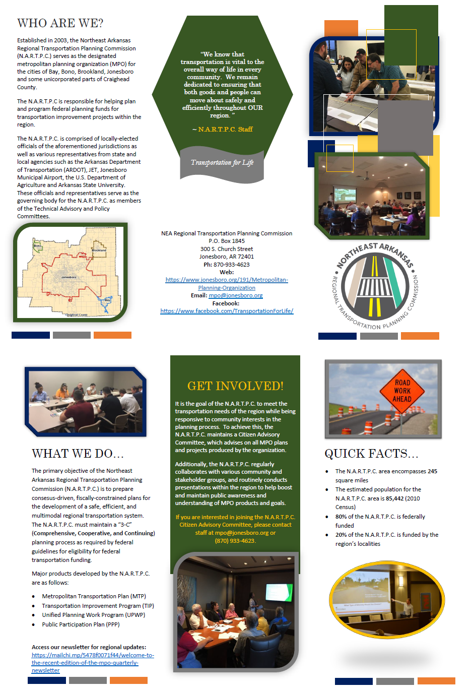 Official informational brochure for the MPO