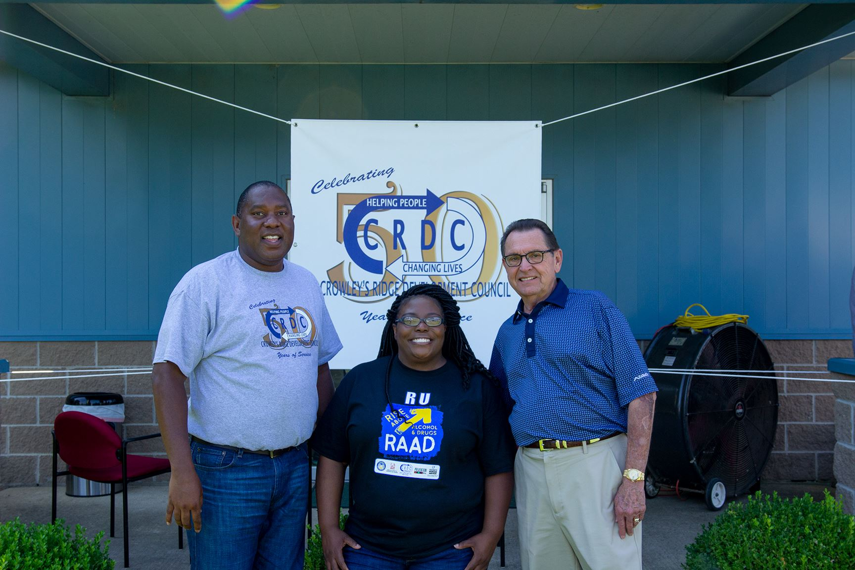 mayor with tony thomas and amanda lewis