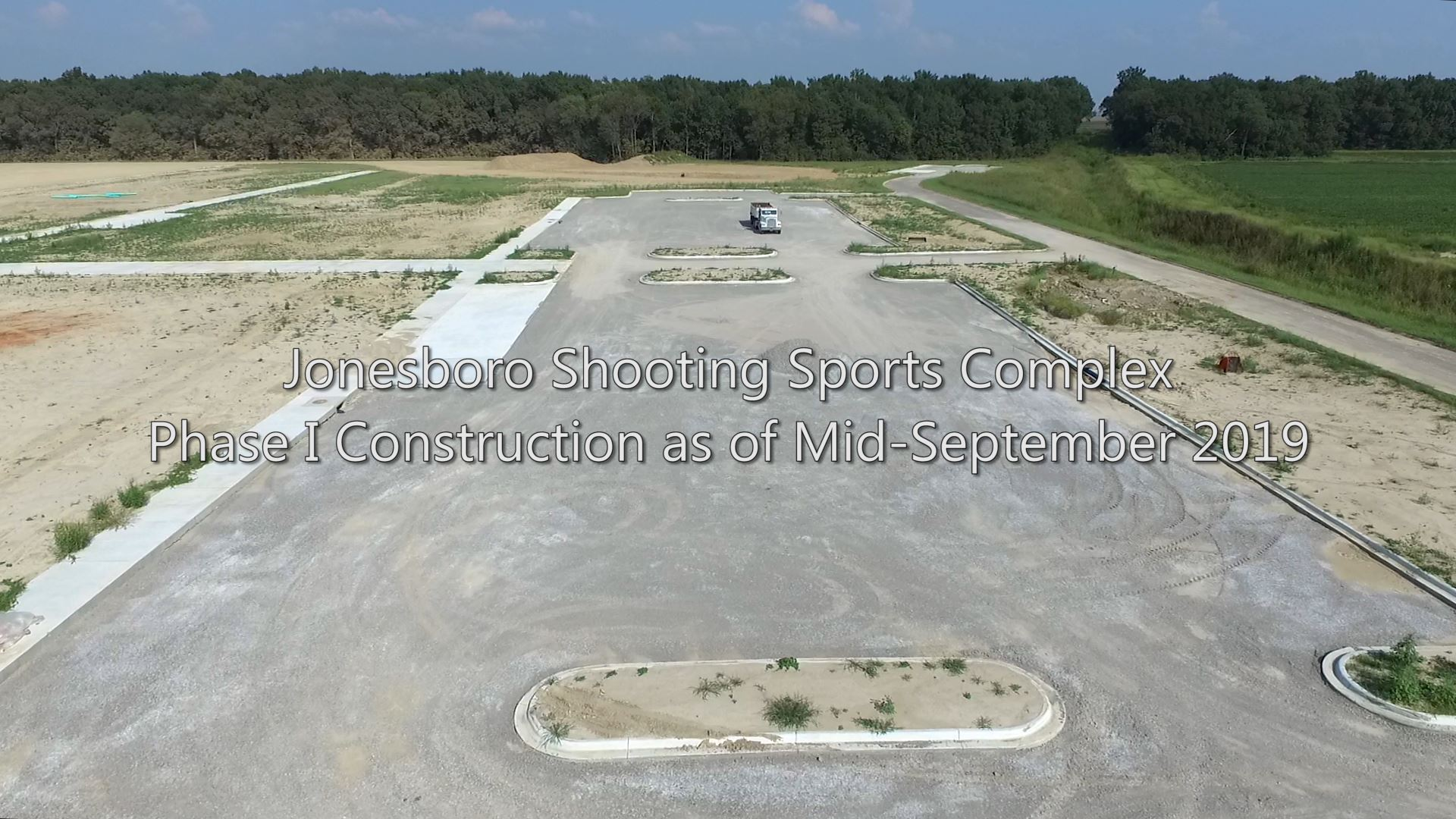 Jonesboro Shooting Sports Complex Phase I Construction as of Mid-September 2019