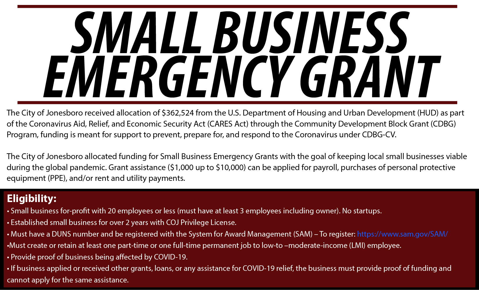 small business emergency grant