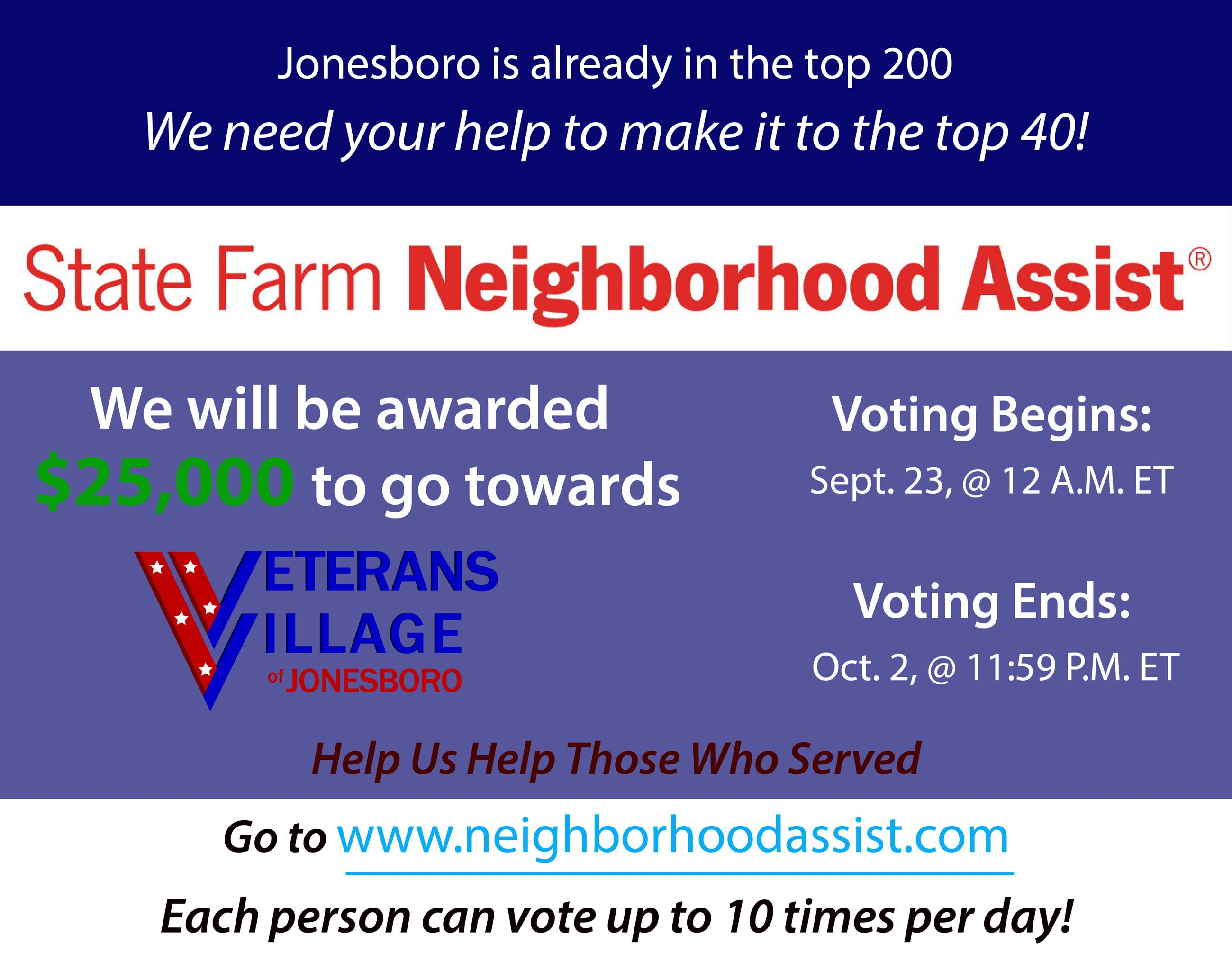 Veterans Village-State Farm Voting-graphic