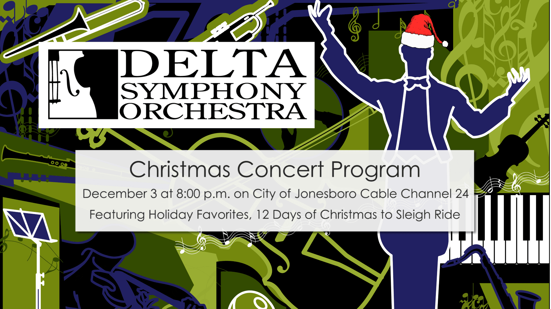 DSO Christmas Concert Promo Graphic 2020