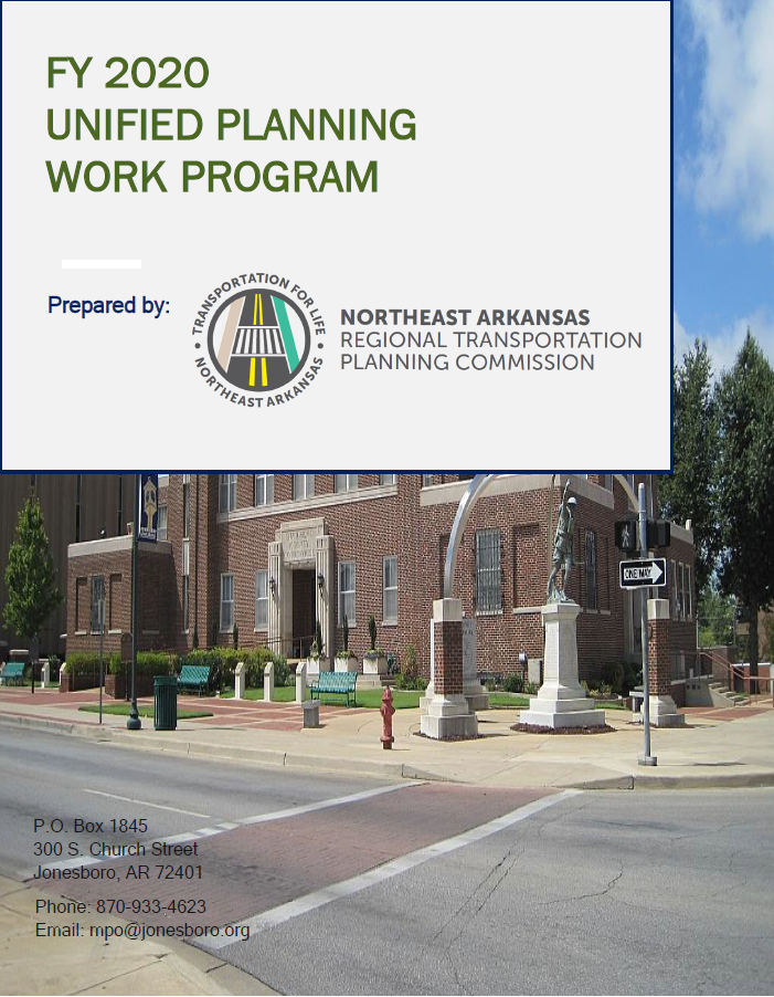 FY 2020 Unified Planning Work Program detailing staff tasks and budget to be accomplished Opens in new window