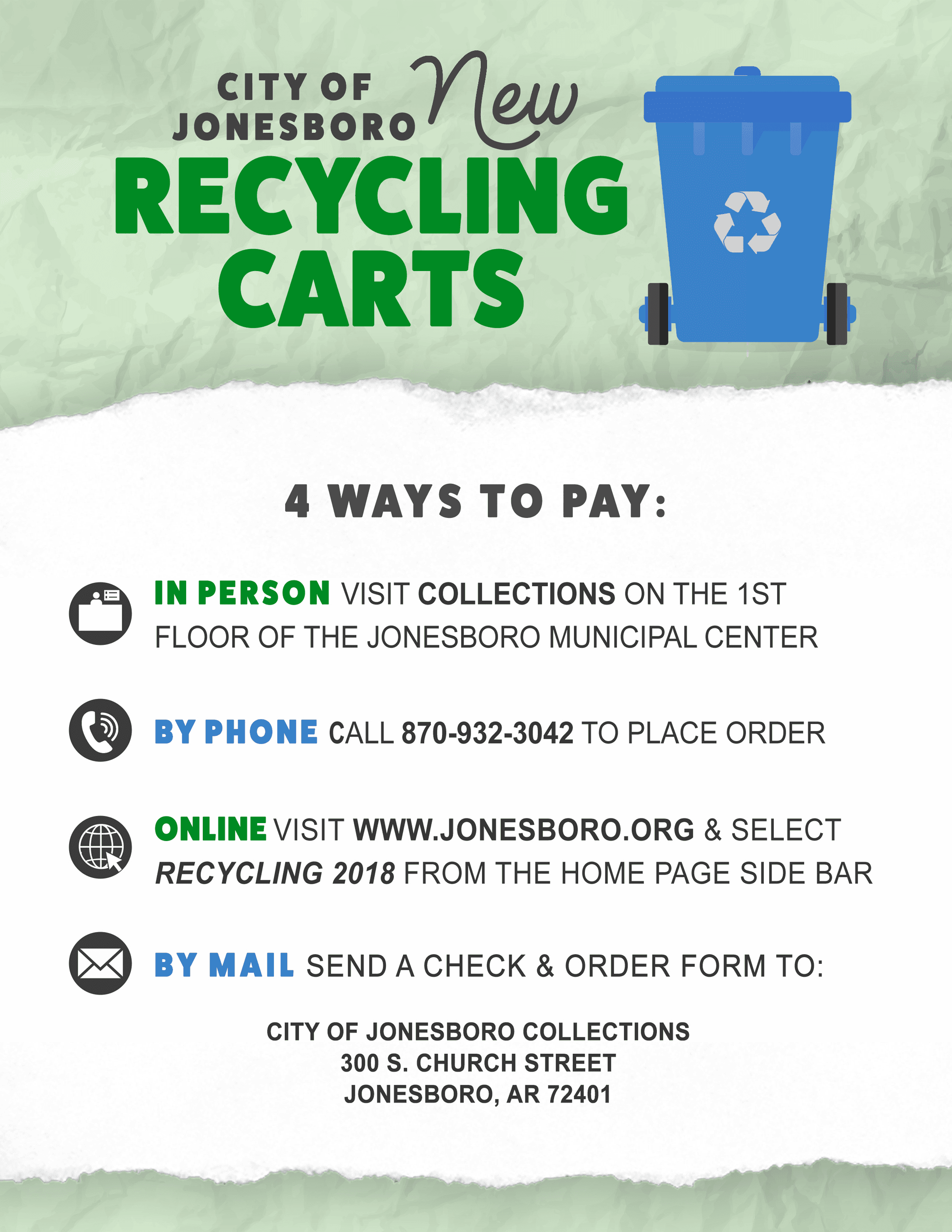 Recycling - 4 Ways To Pay