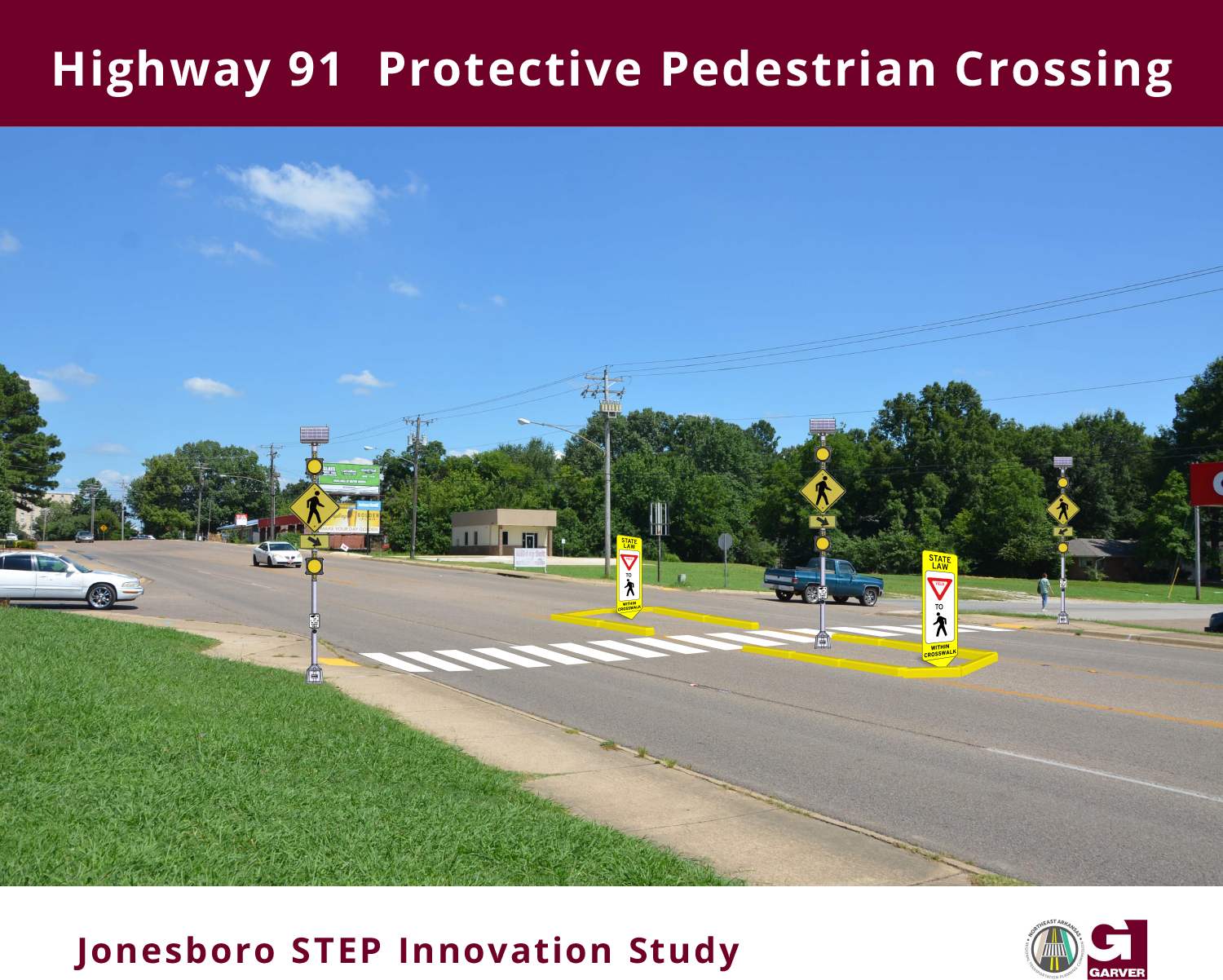 Hwy 91 Johnson Avenue and State Street STEP Pedestrian Improvements Plan for Temporary Crosswalk