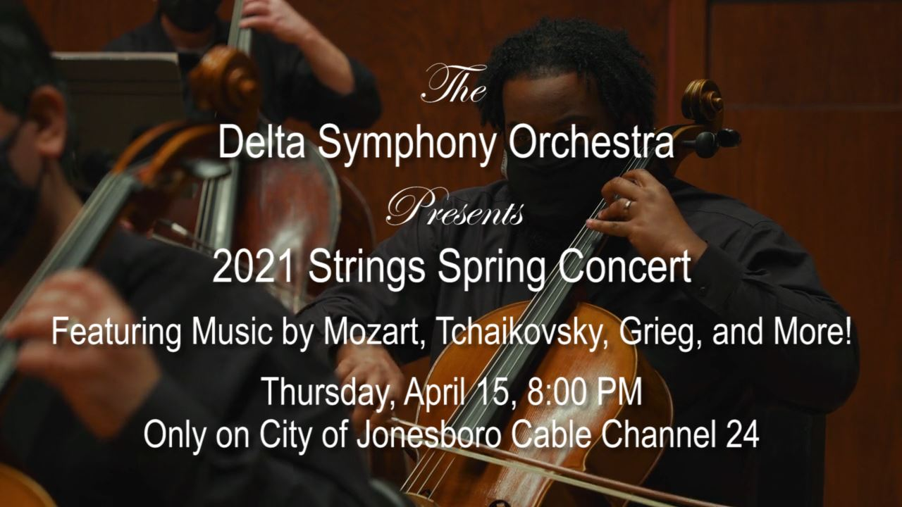 Delta Symphony Orchestra Spring Strings Concert 2021 Promo Graphic